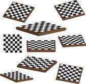 Chess board set 3d vector — Stock Vector