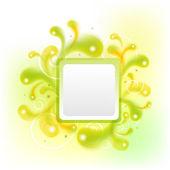 Verde bandeira colorida abstrata para seu texto. — Vetor de Stock