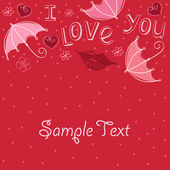 Seamless love abstract background. — Vector de stock