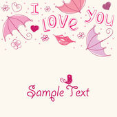 Romantic love card. Abstract background — Stock Vector