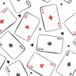 Playing cards. Seamless background. — ストックベクタ #6461122