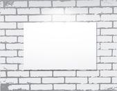 Empty frame on a brick wall. Art gallery. — Stock Vector