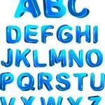 3d ice set alphabet. — Stock Vector #6640746