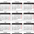 Royalty-Free Stock Vector Image: Template for calendar 2012. Vector