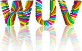 Colorful 3d alphabet. — Stock Vector