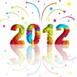Stock Vector: New year 2012 in colorful background design.