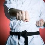 Karate punch — Stock Photo