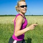 Running woman — Stock Photo #6463786