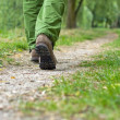 Man exercise walking in park — Stockfoto