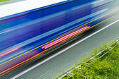 Highway traffic, speed and blurred motion — Stock Photo