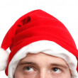 Stock Photo: Man with a santa hat