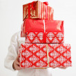 Presenting alot of gifts — Foto Stock