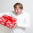 Presenting a gift — Stock Photo #5922583