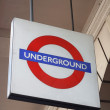 Tube sign — Stock Photo