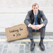 Fired businessman — Stock Photo