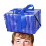 Present on head — Stock Photo #5927394