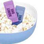 Popcorn and movie tickets — Stock Photo #5927428