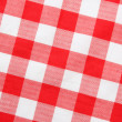 Red textile Gingham — Stock Photo