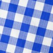 Blue textile gingham background — Stock Photo