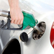 Gas in to the tank — Stock Photo