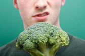 Dislike broccoli — Stock Photo