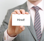 Hired — Stock Photo
