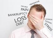 Depressed business man — Stock Photo