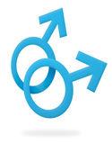Gay male symbol — Stock Photo