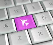 Plane ticket — Stock Photo