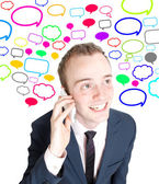 Business man talking in cell phone — Stock Photo