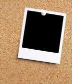 Instant photo on noticeboard — Stock Photo