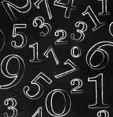 Numbers on blackboard — Stock Photo