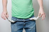 Empty pockets — Stock Photo