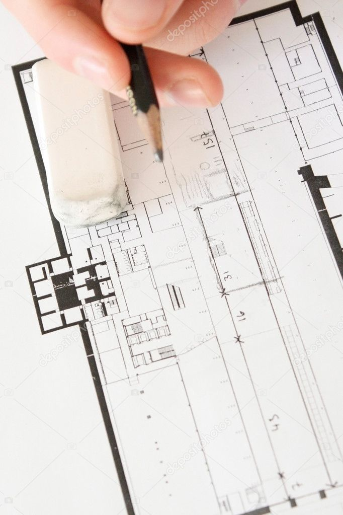 Architectural plans — Stock Photo #5923565