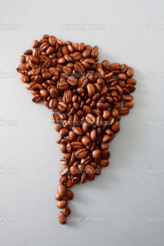 South America mde out of beans — Stock Photo #5924140