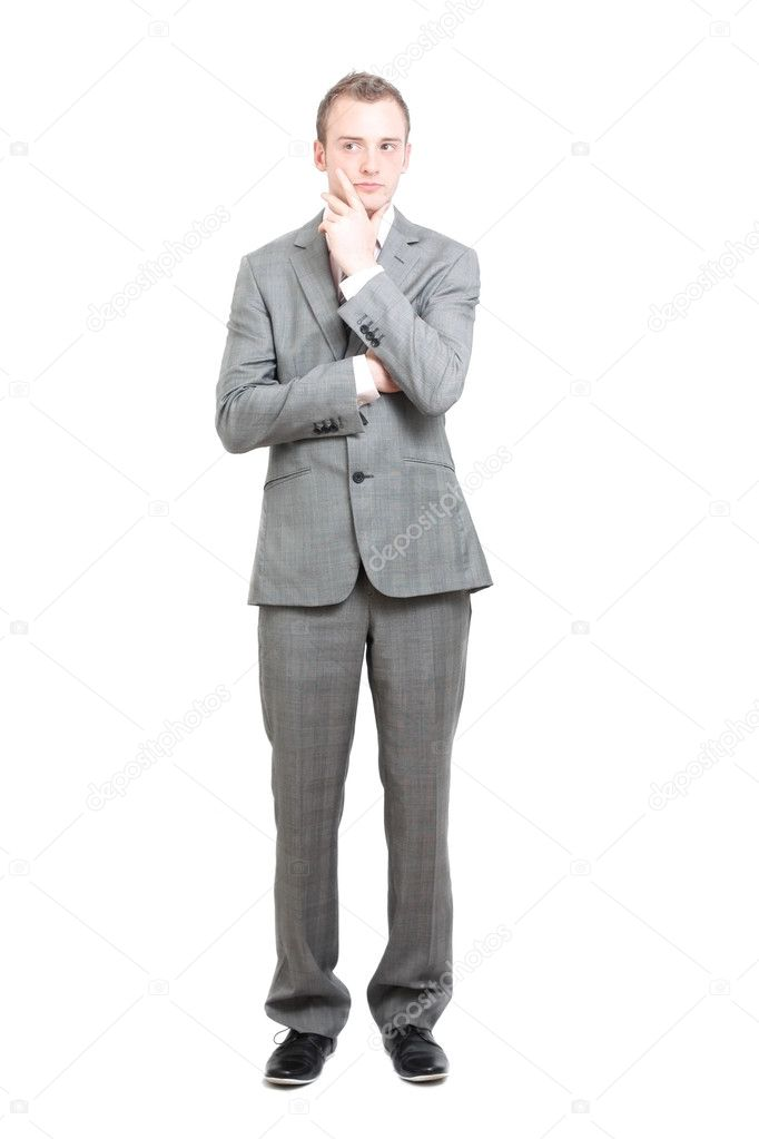 A young handsome business man thinkinh  Stock Photo #5924908