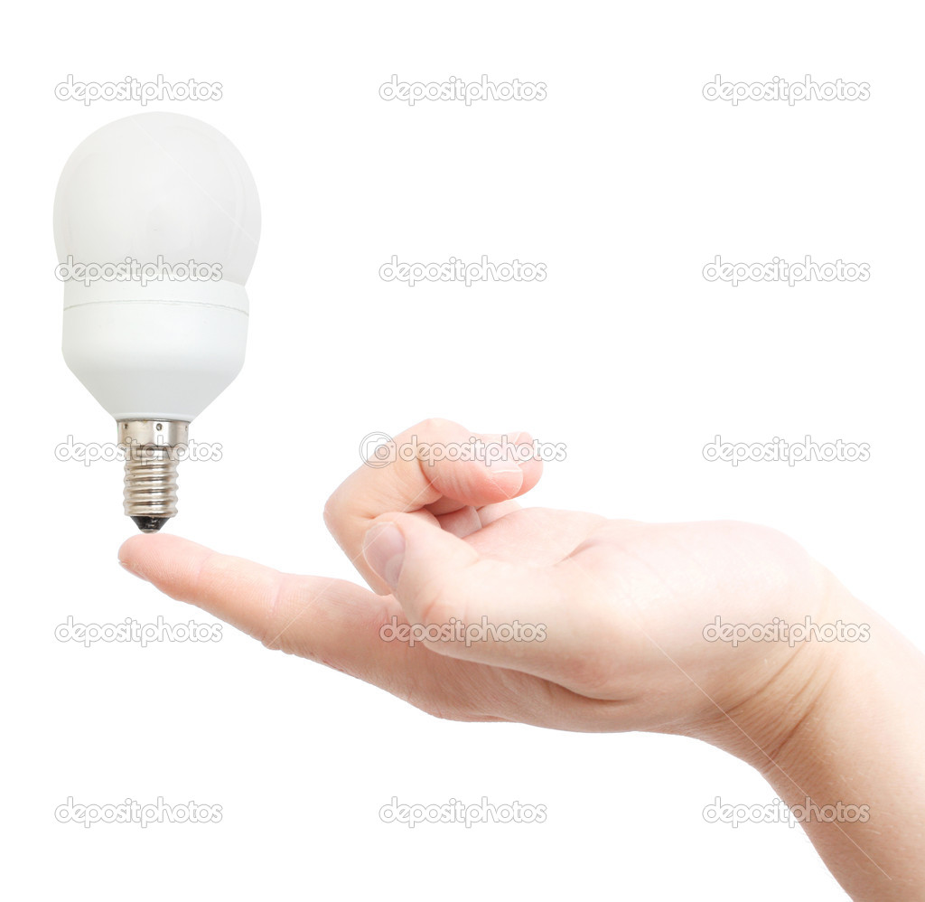 Electricity saving light bulb — Stock Photo #5927248