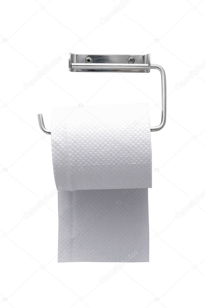 Toilet paper on the wall — Stock Photo #5927754