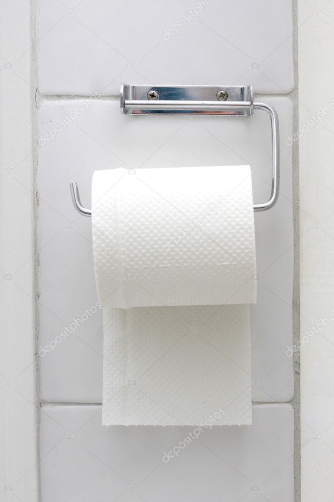Toilet paper on the wall — Stock Photo #5927793