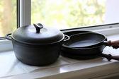 Cast iron Cookware — Stock Photo