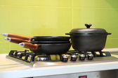 Cast iron Cookware — Stock Photo