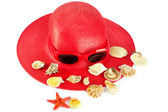 Woman`s summer hat — Stock Photo
