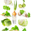 Green vegetables background — Stock Photo