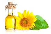 Bottle of sunflower oil — Stock Photo