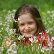 Stock Photo: Child girl on a grass