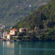 Stock Photo: View on ancient villa, lake como