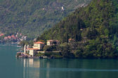 View on a ancient villa, lake como — Stock fotografie