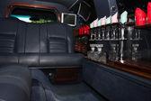 Interior of luxurious limousine — Stock Photo
