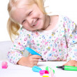 Little child drawing - Stock Photo