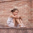 Girl lying on a stairs — Stock Photo #6582866